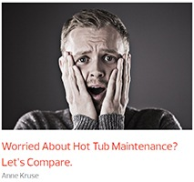 a man worries about the difficulties of managing hot tub maintenance