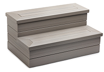 EcoTech High Quality Hot Tub Steps in Coastal Gray Color