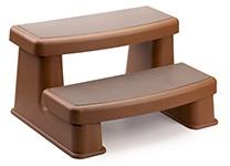 Polymer Highest Rated Hot Tub Steps in Teak Color