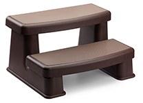 Polymer Most Affordable Hot Tub Steps in Espresso Color