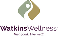 Watkins Wellness logo and company mantra - feel good live well