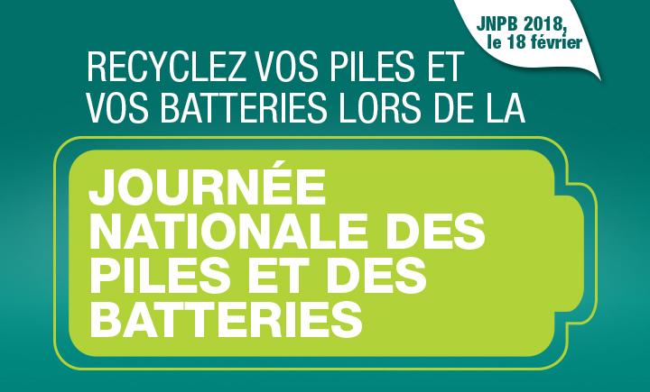 Engagez-vous lors de la Journée nationale des piles et des batteries