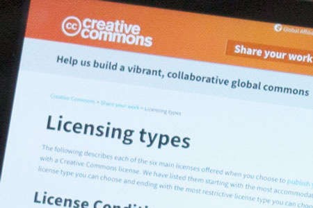 Creative Commons and other licences
