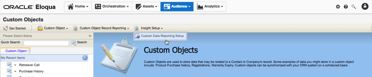 Setting up insight export.