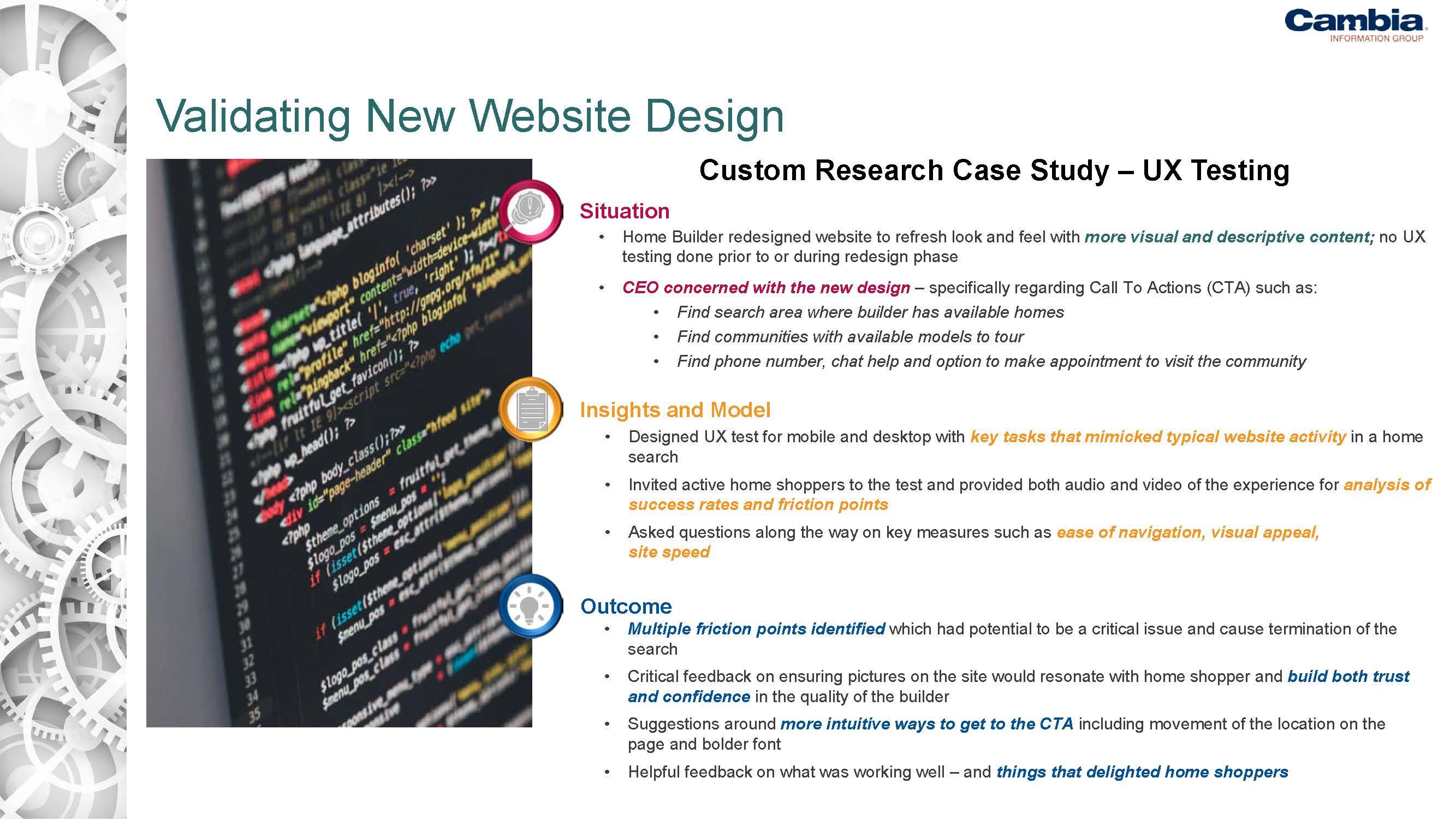 quantify website efficiency