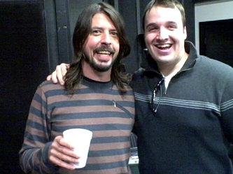 Cameron and Dave Grohl
