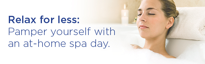 Relax for less: pamper yourself with an at-home spa day.