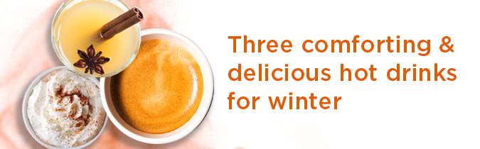 Image of three hot drinks.