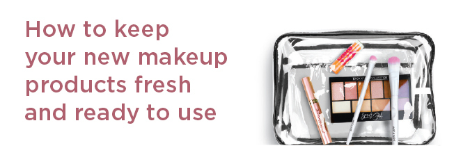 Closeup of makeup brushes