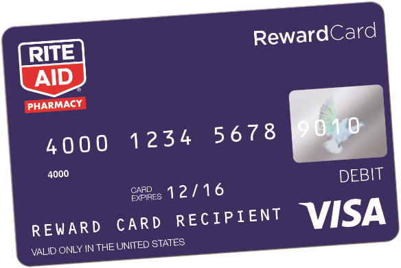 image of rite aid rewards card