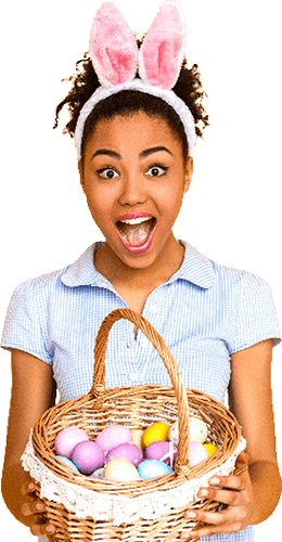 woman with easter basket