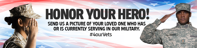 We want to honor those who have served or those currently serving in our  U.S. military! Send us a photo of your loved one. 3fe759494