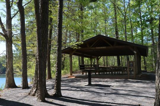 Northbank Day Use Area Shelter Campground Carters Lake Ga