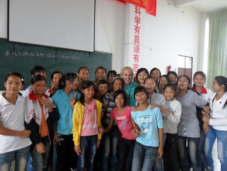 group of TEFL students in a classroom