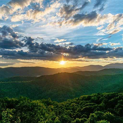 The Appalachian mountains of North Carolina.