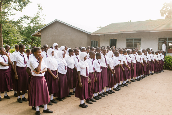 Students outside Nyange Secondary School, Kilombero Region, Tanzania. (Photo credit: Sam Vox/ONE)