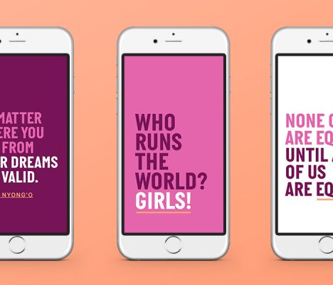 Download these exclusive #DayOfTheGirl wallpapers!
