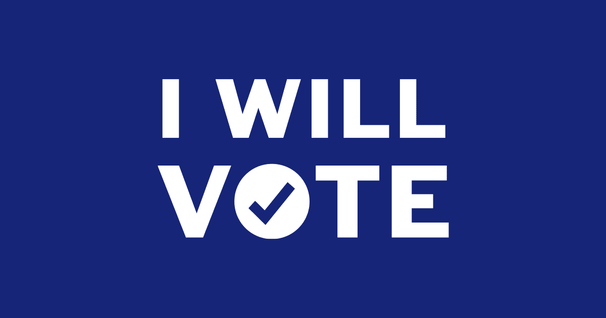 I Will Vote graphic with link to WisDems voter protection resources.