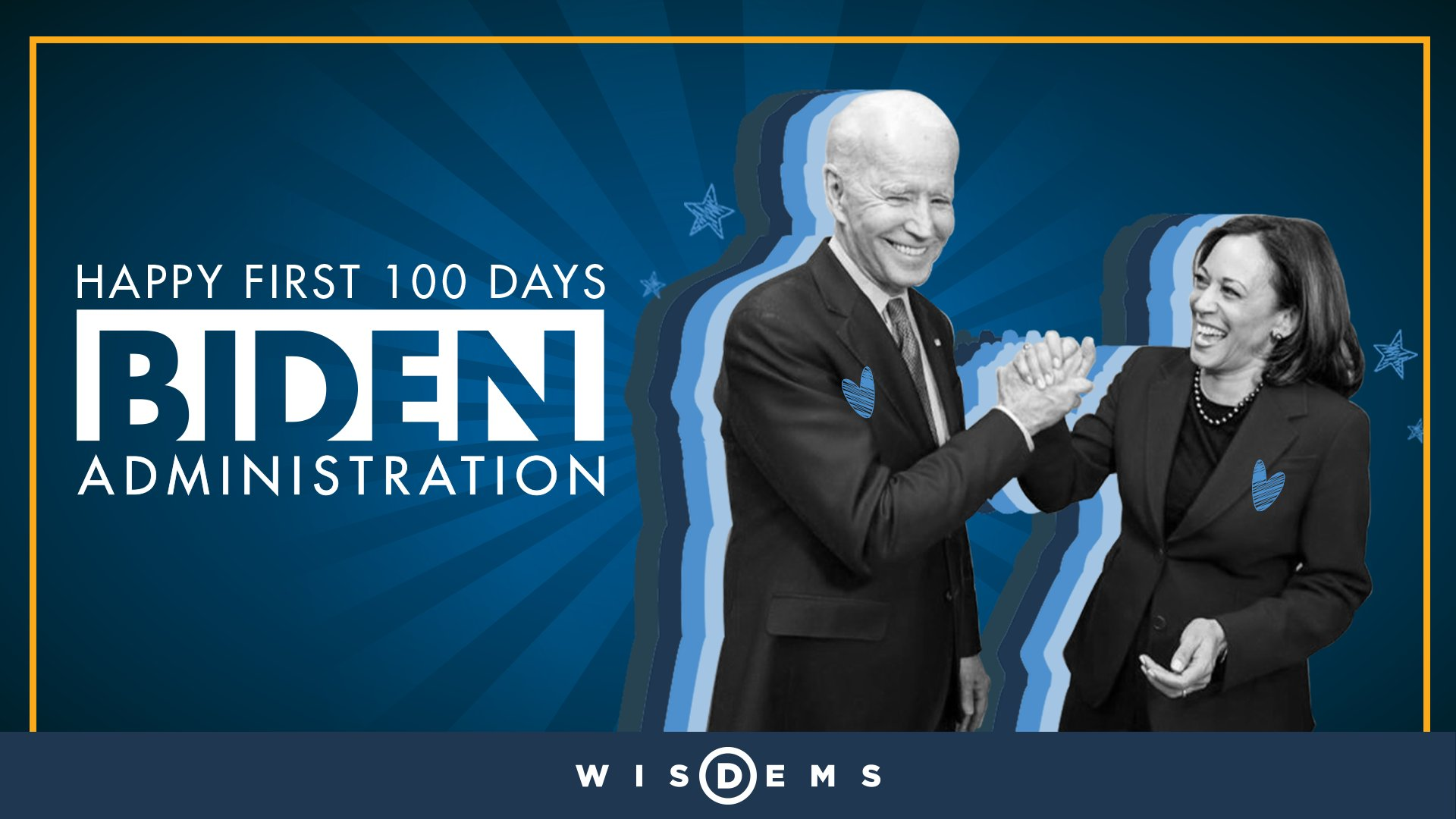 Graphic celebrating the first 100 days of the Biden Administration.