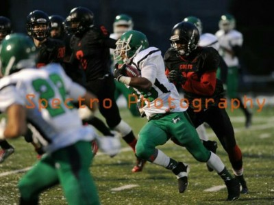 Herman standout Jalen Jackson runs with the football.