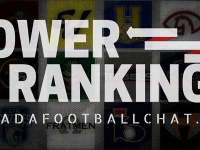 CJFL Power Rankings: New No. 1