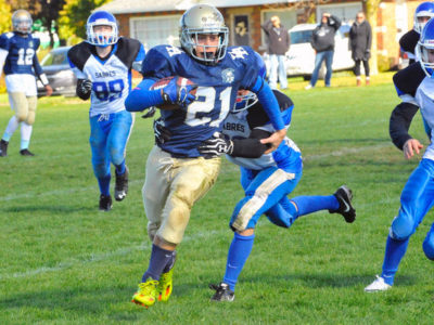 Delhi tailback Tyler Whitfield is one of the Raiders expected to lead this year's team during the 2017 Haldimand-Norfolk Football League campaign. JACOB ROBINSON/Delhi News-Record