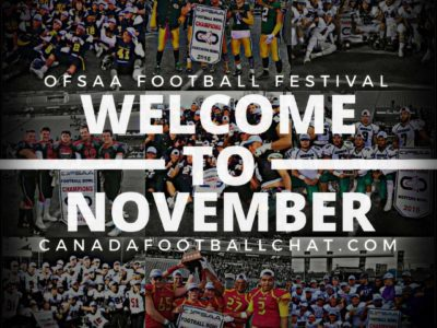 2017 OFSAA (Ontario) Bowl Playdown schedule/scores (updated Nov 22nd)