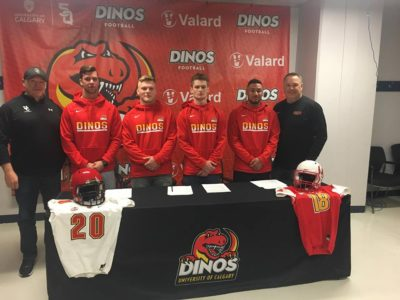 Calgary Dinos stock up on CJFL talent