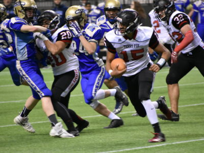Jevaun Jacobson (15), Terry Fox Ravens (credit: Katie Burt, CFC)