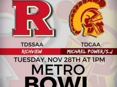 OFSAA Festival 2017 game PREVIEW: We've got a classic all-Toronto matchup between Richview and Michael Power/St. Joseph in the Metro Bowl