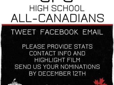 Call for nominations, CFC high school All-Canadians