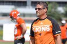 B.C. Lions receivers coach Marcel Bellefeuille at the Canadian Football League's training camp in Kamloops in May/June 2016. (B.C. Lions photo) [PNG Merlin Archive]