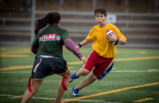 Tournois de Flag Football en collaboration avec la CFL et la NFL samedi le 7 Octobre 2017 à Montreal. Photo: Dominick Gravel  http://www.dominickgravel.com