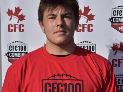 "CFC100 Logan Weidner; ""…we all take pride in the team as a school"""