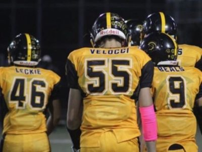 """DE Daniel Velocci; """"I look forward to tearing it up on the field this year"""""""