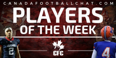 CFC50 High School Players of the Week (FINAL): CFC100s Hyett, Severy, Anderson, and Malo Melançon honoured