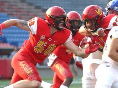 CFC100 U Sports Spotlight: Q&A with Dinos LB Charlie Moore