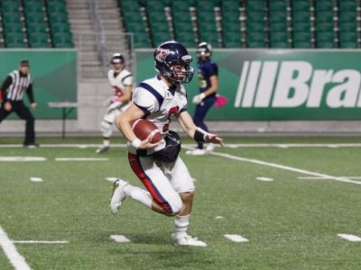 CFC100 QB Luke Hornung attracts two U Sports offers