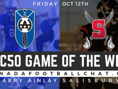 CFC50 Game of the Week (AB): No. 2 Harry Ainlay faces No. 22 Salisbury in battle of northern Alberta