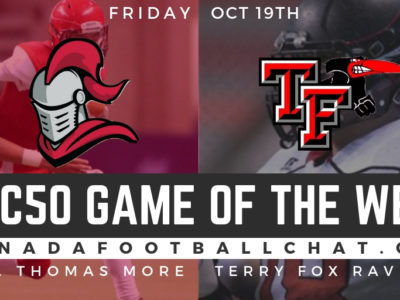 CFC50 Game of the Week (BC): No. 23 Terry Fox to get busy against No. 20 STM