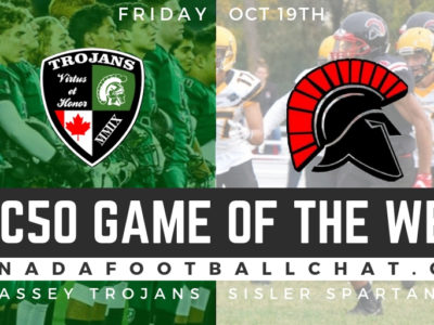 CFC50 Game of the Week (MB): Vincent Massey Trojans to have tough, physical game against Sisler