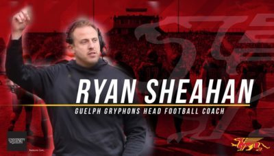 Ryan Sheahan heads to Guelph as next head coach
