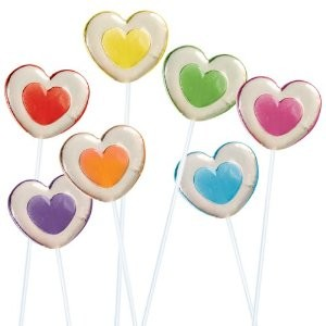 2-Tone Heart Twinkle Pops Assorted 7 Flavors - 40ct.