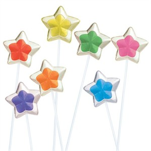 2-Tone Star Twinkle Pops Assorted 7 Flavors - 120ct.