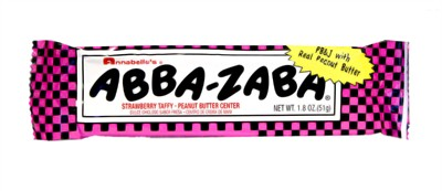Abba Zaba PB&J Strawberry Taffy Bar