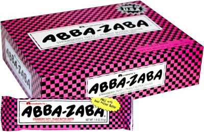 Abba Zaba PB&J Strawberry Taffy 24ct. (Discontinued)