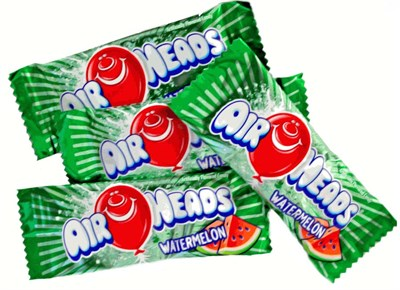 Airheads Watermelon Mini Bars Bulk 1LB