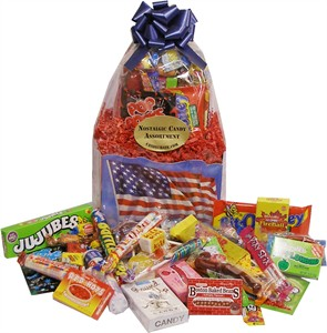 American Flag Candy Gift Basket (DISCONTINUED)
