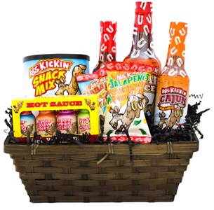 """Ass Basket"" Ass Kickin' Hot Sauce Gift Basket"