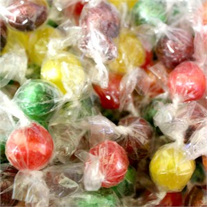 Assorted Hard Sour Balls Wrapped 5LB